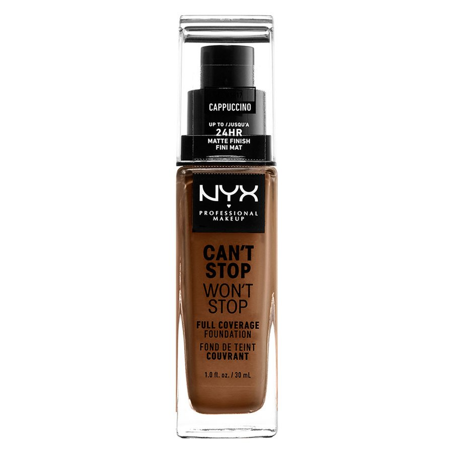NYX Professional Makeup Can't Stop Won't Stop Full Coverage Foundation Cappucino 30 ml