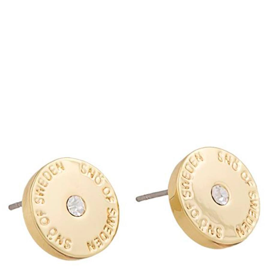 Snö Of Sweden Harly Small Earring Gold/Clear 10mm