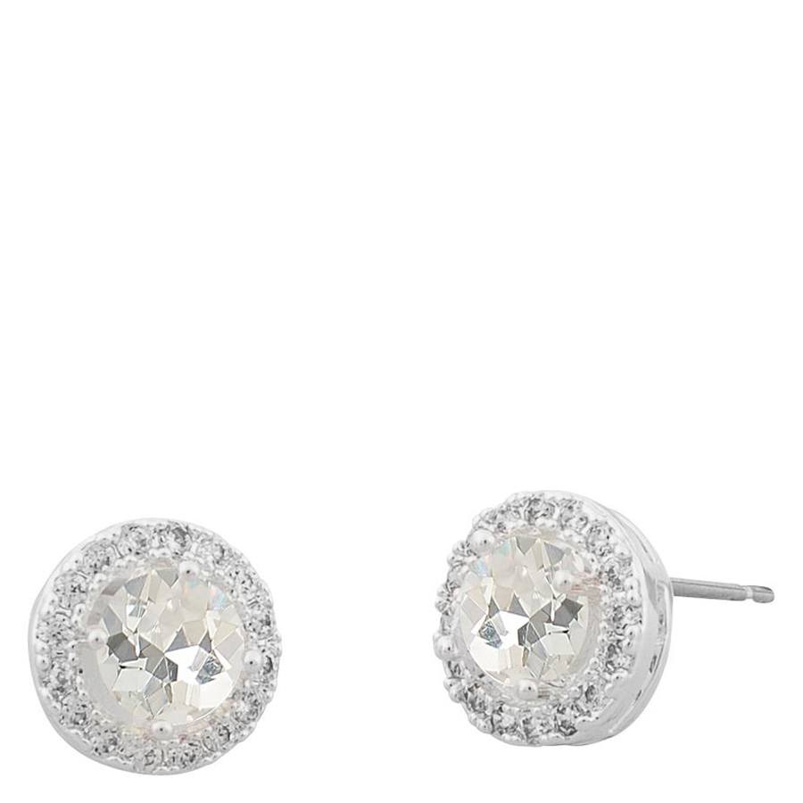 Snö Of Sweden Lissy Small Stone Earring Silver/Clear