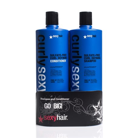 Curly Sexy Hair  - Shampoo og Balsam 2 x 1000ml (Duo)