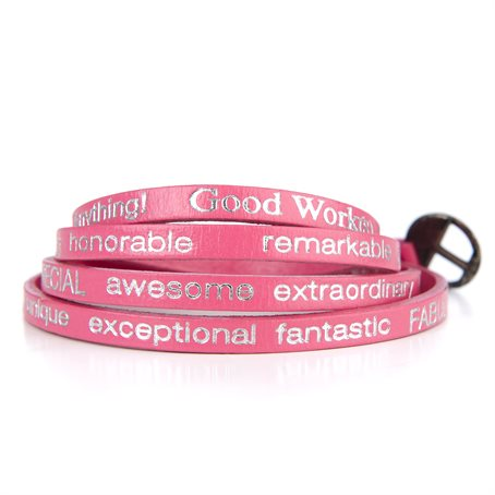 "Good Work(s) - Wrap Around ""You are beautiful"" Hot Pink"
