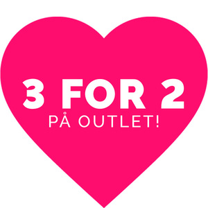 3 for 2 på outlet!